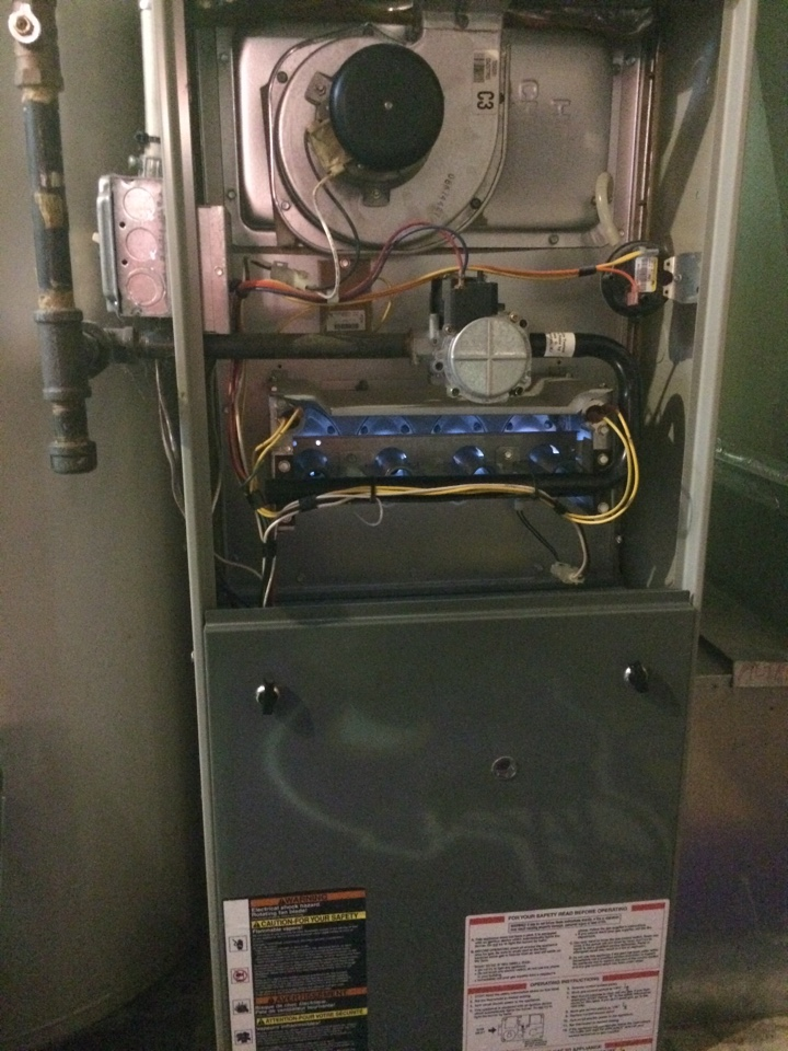 Burnsville, MN - Tune up on Trane furnace