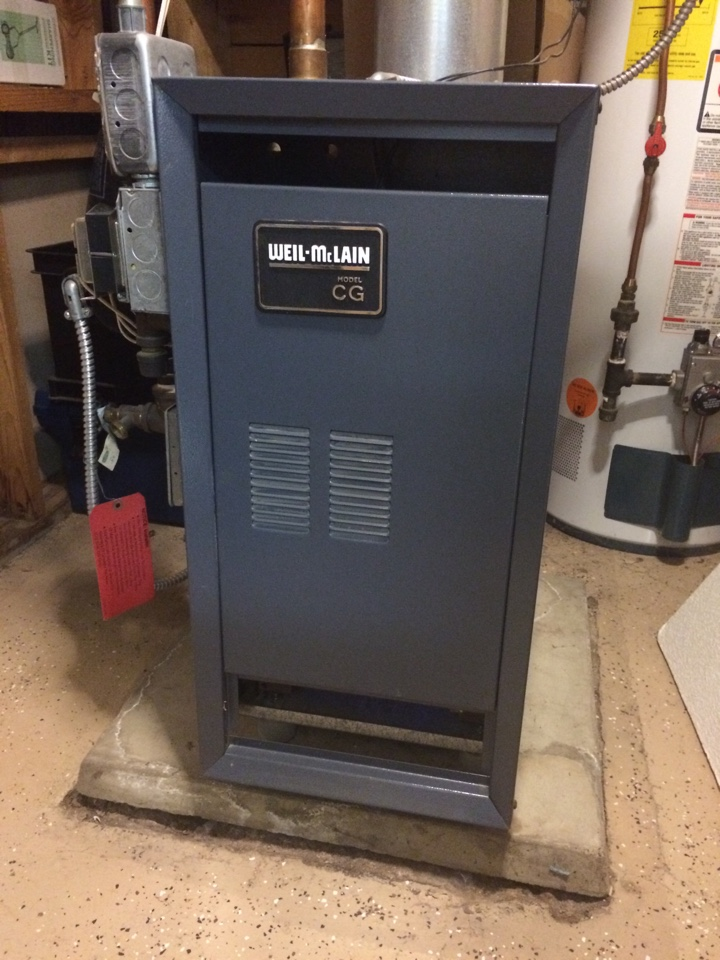 Saint Paul, MN - Maintenance on a Weil-McLain boiler