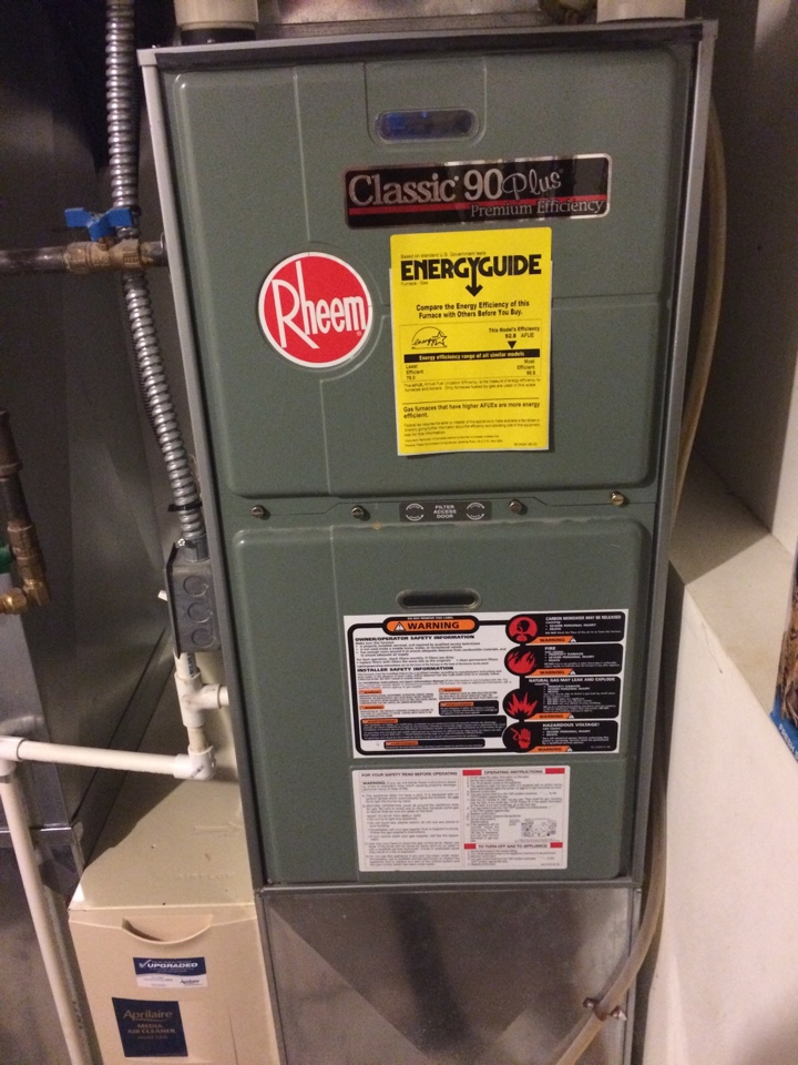 Maintenance on a rheem classic 90 plus furnace