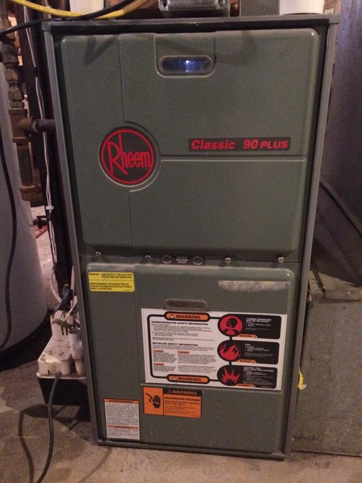 Maintenance on a rheem classic 90 plus furnace