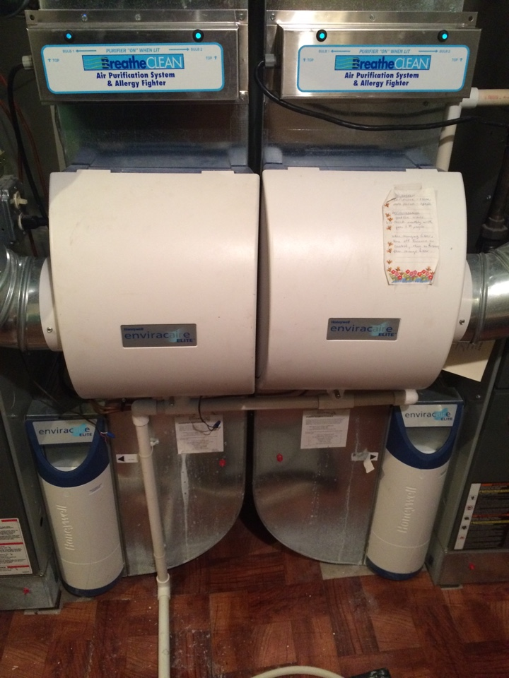 Excelsior, MN - Service on a Honeywell envicaire elite humidifier