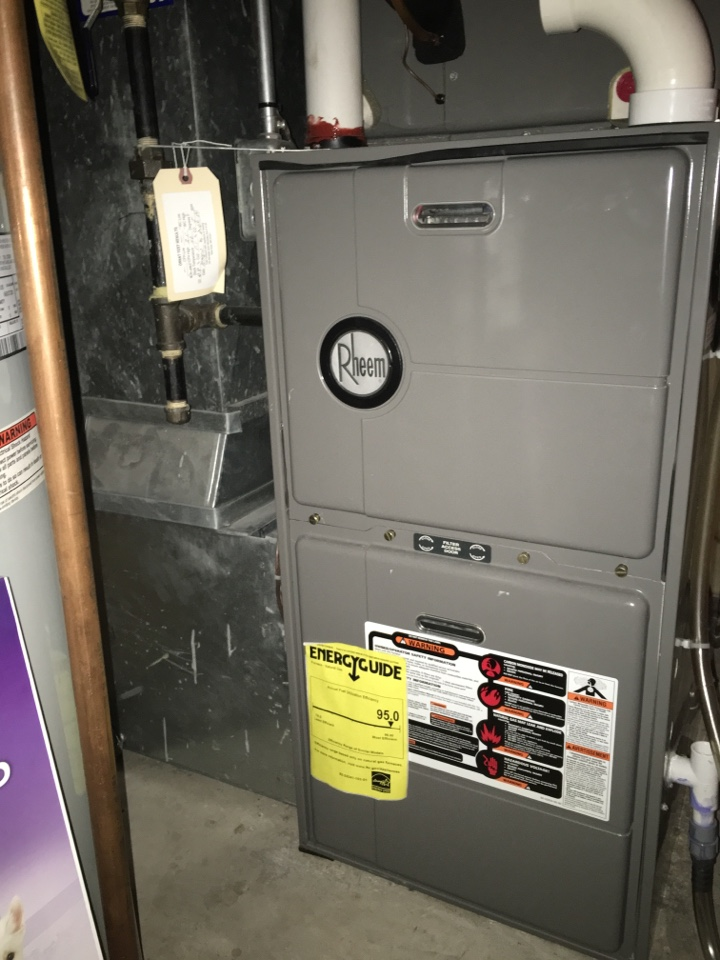 New Hope, MN - Service on a rheem furnace