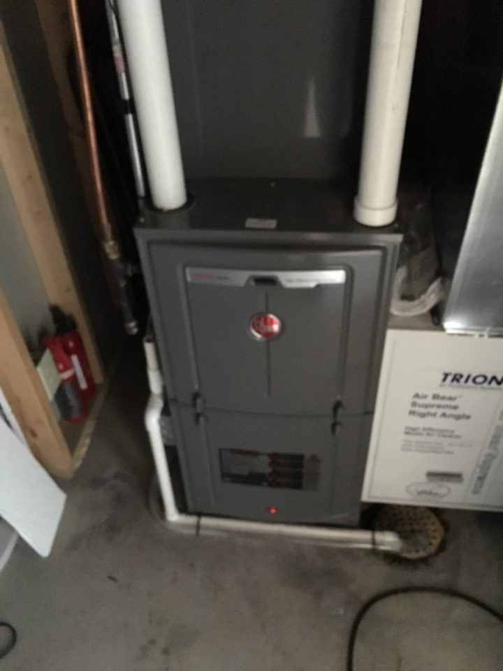 Warranty work on a rheem furnace with a eco net thermostat