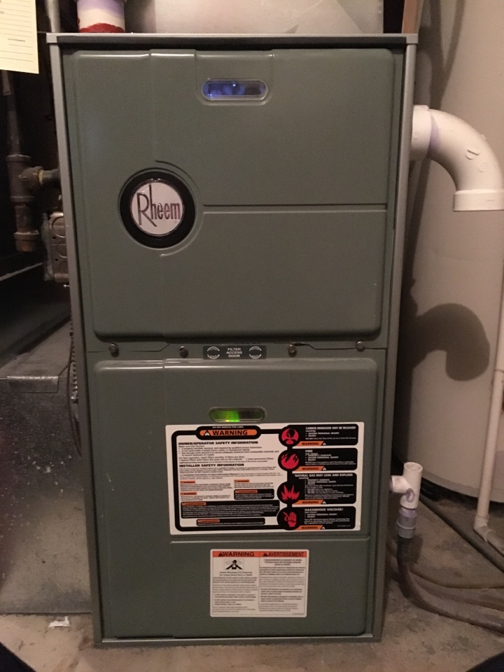 Saint Bonifacius, MN - Service on a rheem furnace