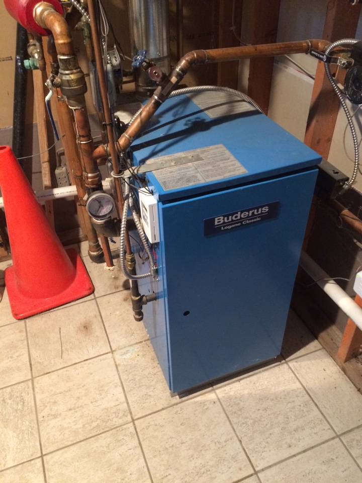 Service on Buderus boiler