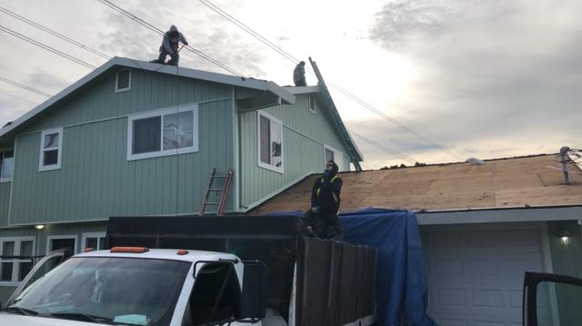 Vallejo, CA - New Roof Installation. Removed existing 3 tab shingle to install new GAF Grand Canyon composition shingle.