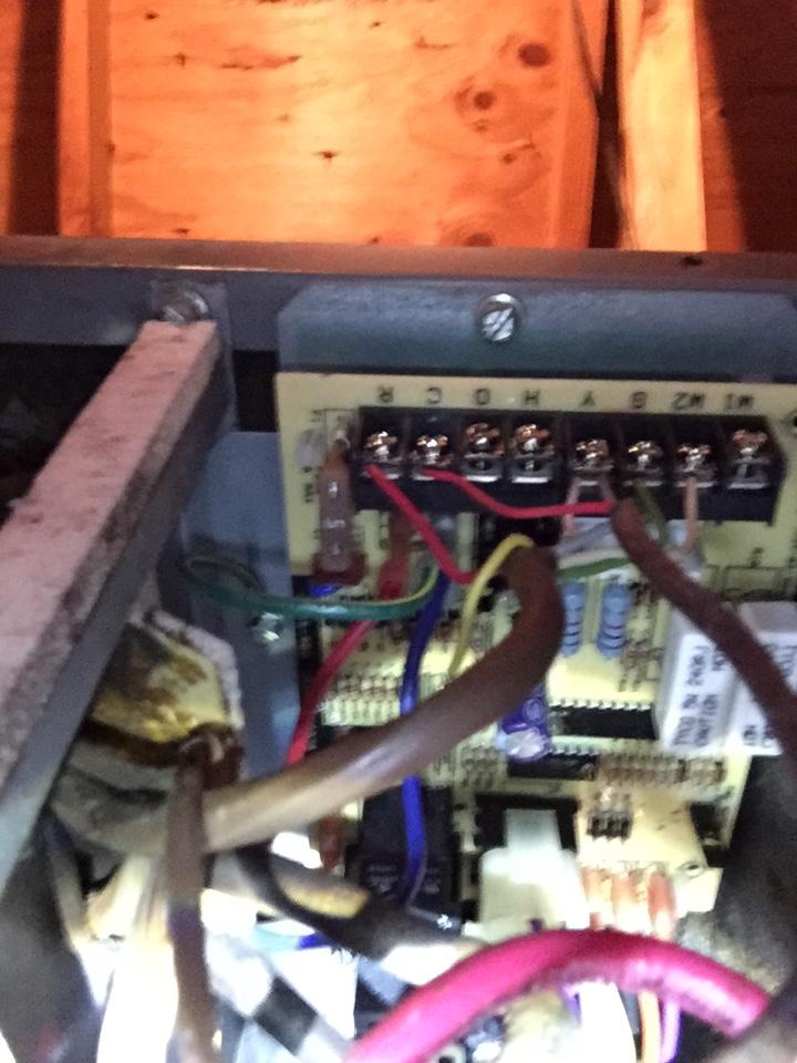Haltom City, TX - Working on a ICP air handler. Bad control board.