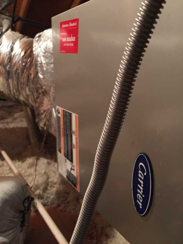 Haslet, TX - Working on a Carrier furnace.