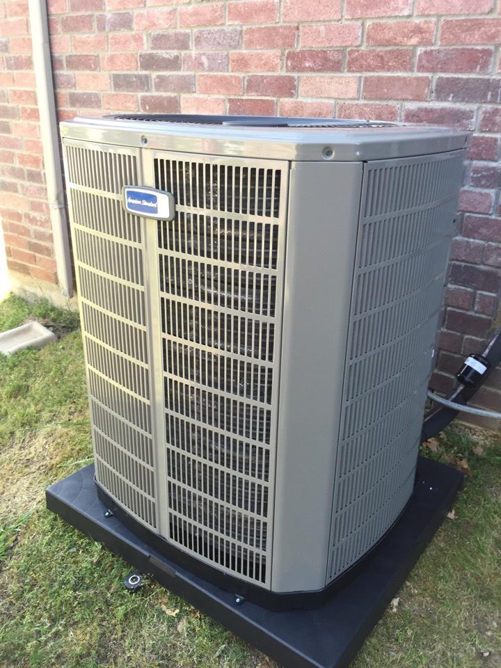 Roanoke, TX - Installed new American Standard Gold 17 Heat Pump