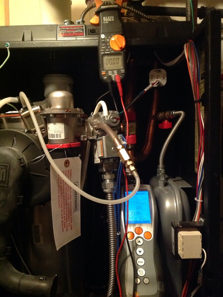 Weaverville, NC - Modulating gas boiler tune up