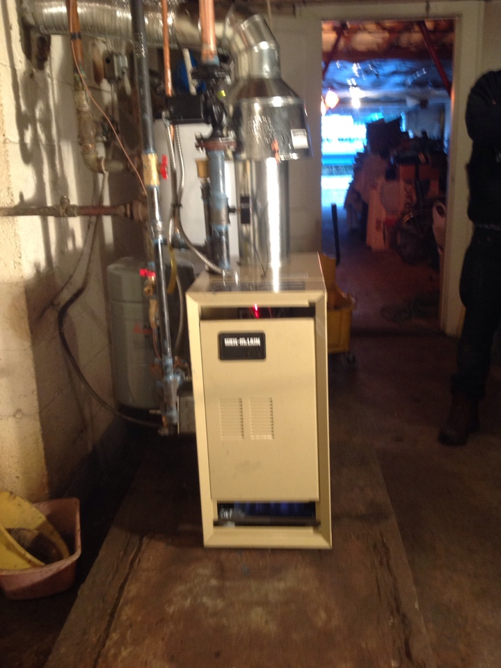 Brevard, NC - Installed a new hot water Weil-McLain boiler and gas pipe to convert from oil fired boiler.