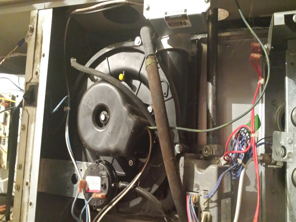 Fletcher, NC - Changing a induce fan on a comfortmaker  gas furnace