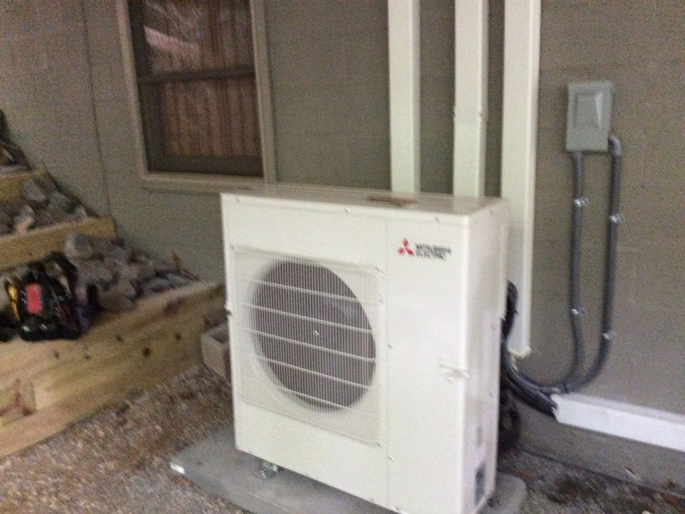 Pisgah Forest, NC - Installing a new Mitsubishi mini split multiple head
