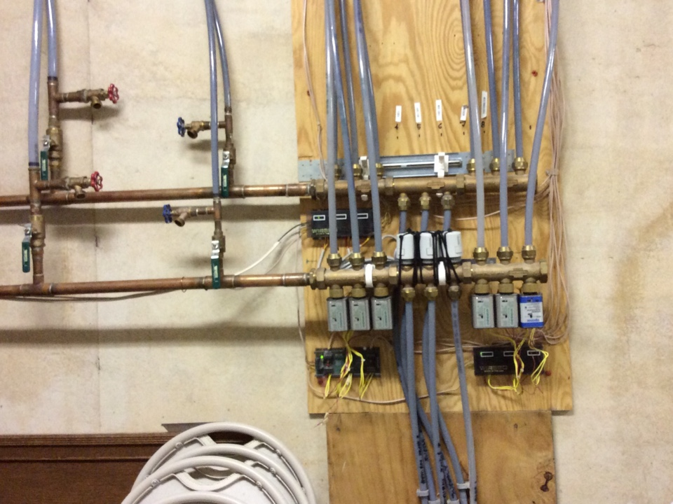 Waynesville, NC - Working on a heat maker boiler and a WIRSBO hot water zone control system