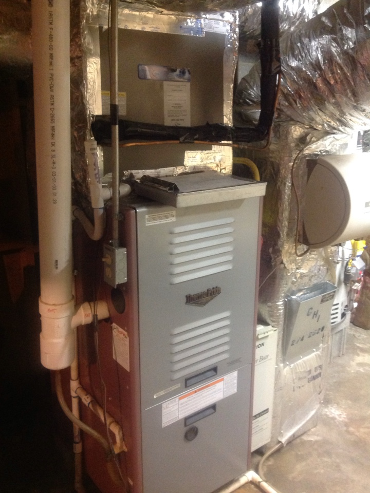 Asheville, NC - Thermopride gas furnace and Coleman air conditioner