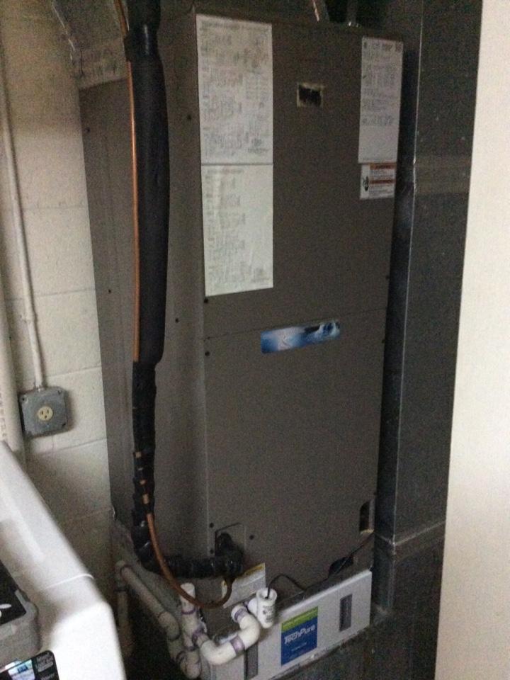Asheville, NC - Spring a/c tuneup on a Coleman heat pump.