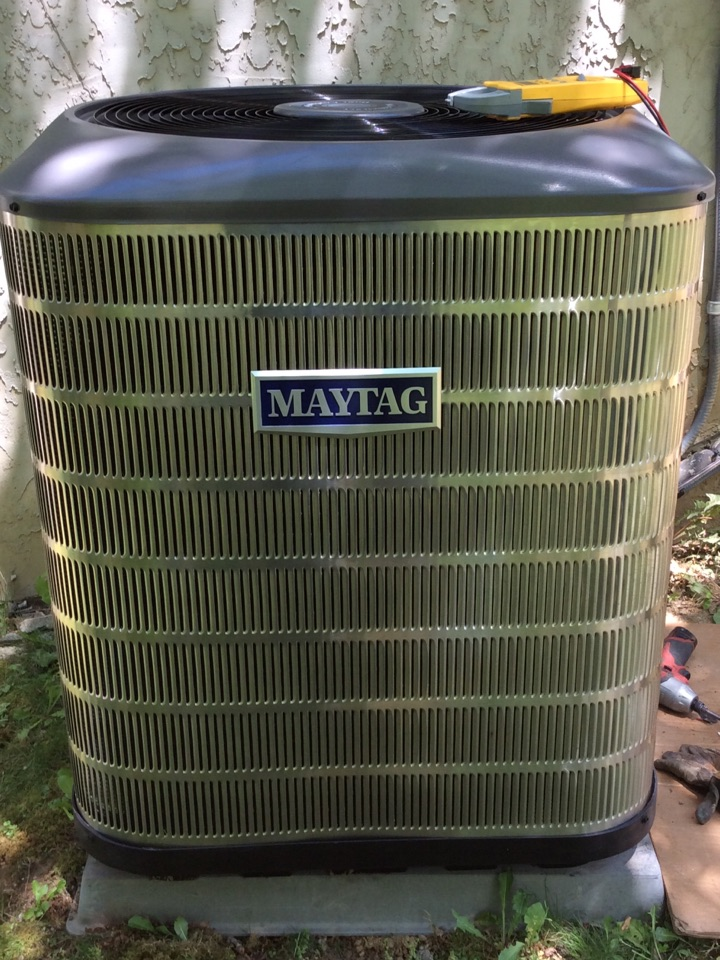 Waynesville, NC - Installing  new Maytag inverter 2 stage heatpump with a variable speed fan coil