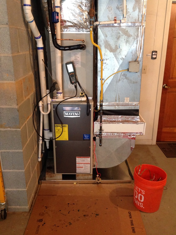 Hendersonville, NC - Maytag gas furnace with 15 seer maytag air conditioner