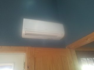 Installed brand new Mitsubishi ductless mini split sealed system and corresponding electrical work