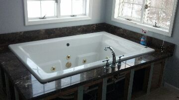 Edison, NJ - Reinstalled a kholer jacuzzi with faucet and drain