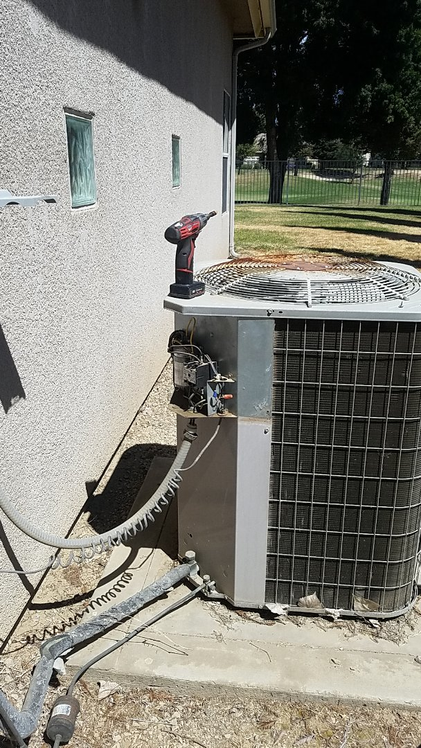 Chowchilla, CA - Air Conditioner not cooling.    Repaired system and restored cooling for customer.