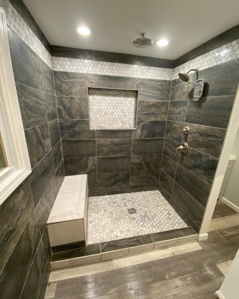 Syracuse, NY - Completed a bathroom remodel in the Syracuse area. Brand new tile and appliances were used!