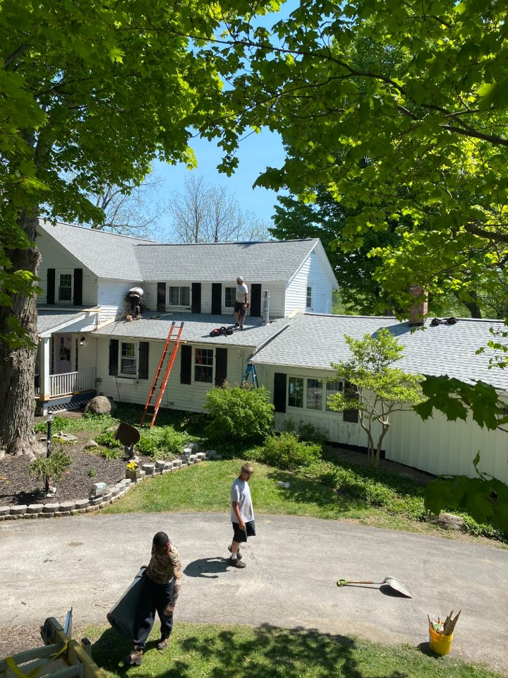 Cazenovia, NY - Just finished this huge multi level home in Cazenovia! Complete tear off and new roofing system with GAF HDZ architectural shingles!