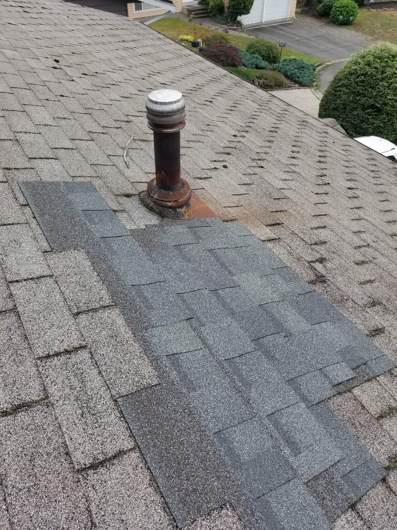 Bothell, WA - Bidding a rubber shingle in Bothell
