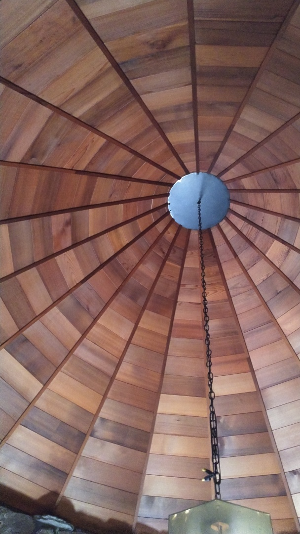 Olympia, WA - This unique home even has a circular roof on it. We do it all at State Roofing.