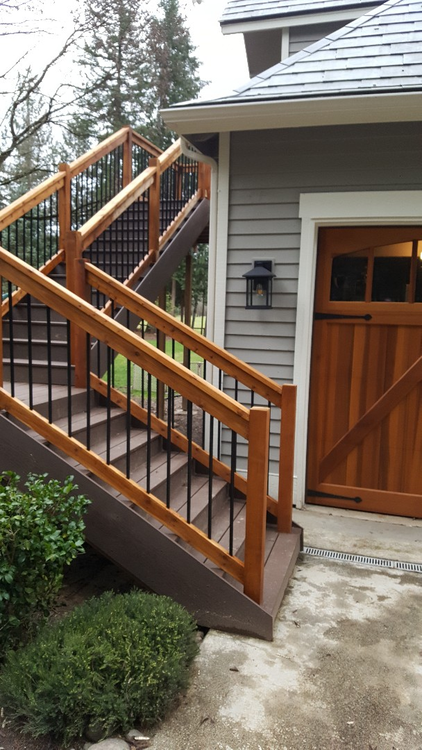 Redmond, WA - Final check on Timber Tech decking and stairs in Redmond