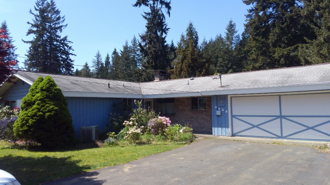 Port Orchard, WA - Customer wants to tear off his own roof and internal gutter and have us in stall architectural composition roofing here in Port Orchard.