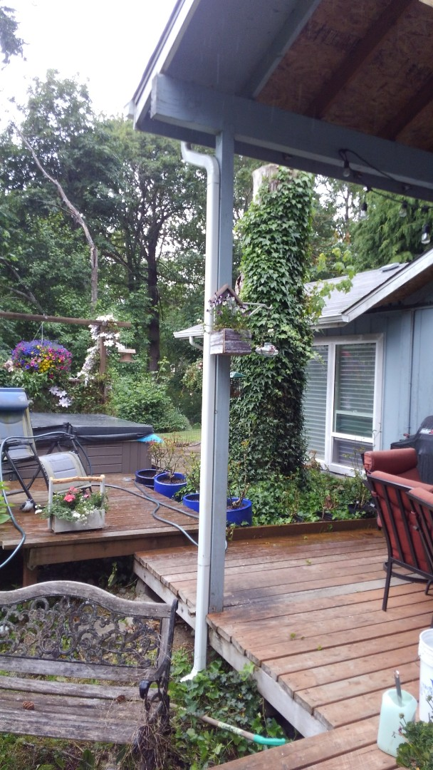 Gig Harbor, WA - Customer is in need of deck resurfacing and new framing from the he roof out here in Gig Harbor.