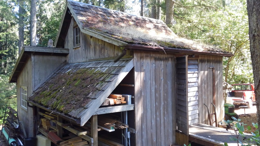 Olympia, WA - Cute old barn needing our standing seam metal roof out here in Olympia area. Thanks for having me out Dennis!