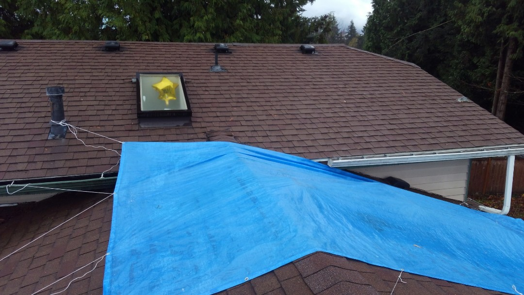 Federal Way, WA - Got leaks!? Like our customer here in Federal Way, we will flash all skylights, chimneys, and even around the whole perimeter of your home to ensure your roof lasts it's full warranty.