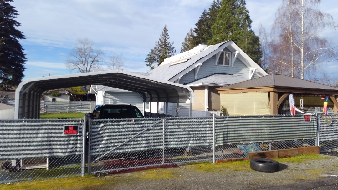 Centralia, WA - Our installation guys will be putting on your new 3-tab composition shingles today on there way to finishing your project. Beautiful day to roof down here in Centralia. Thanks Debbie!