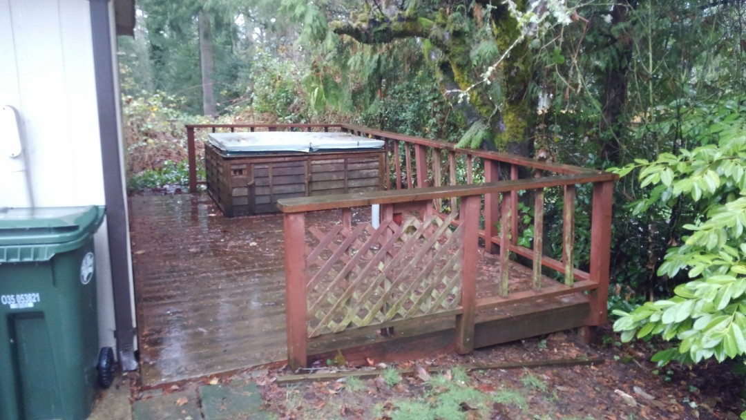 Tacoma, WA - Our customer here in Tacoma in need of a deck rebuild. Framing has some rot. A new pressure treated frame will work great back there Silvester. Thanks!