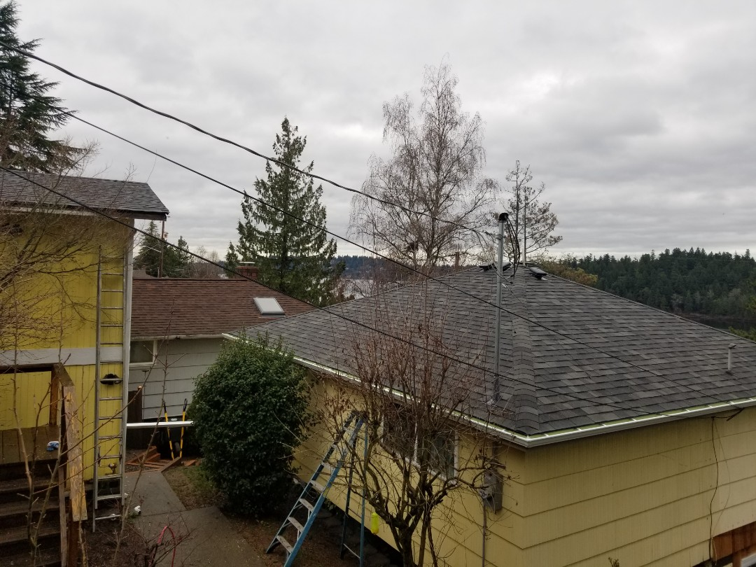 Seattle, WA - Rubberlast 50 job in Sound Grey. Newest roof job in Seattle by State Roofing