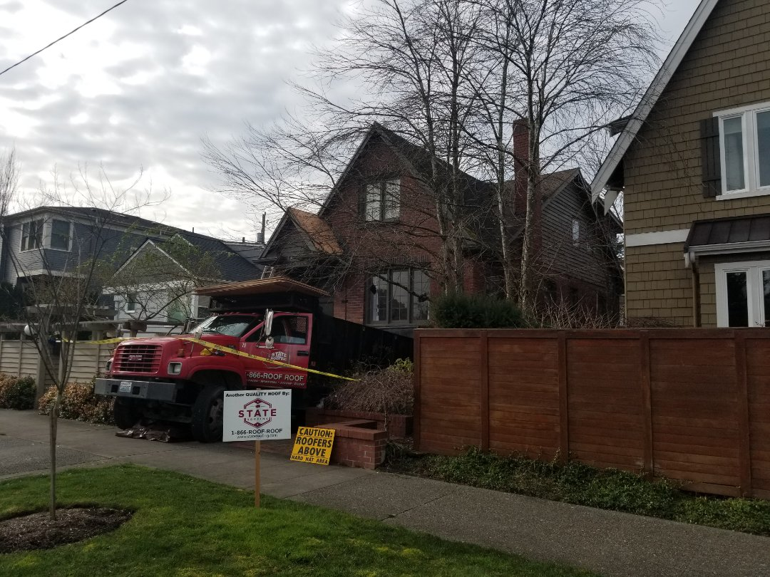 Seattle, WA - The newest roof customer. Welcome to the State Roofing Family.