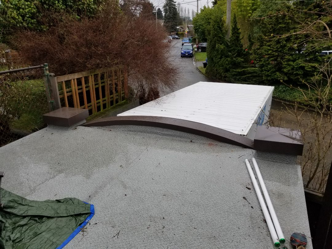 Seattle, WA - Helping build a dream deck for a happy customer. We have great options in metal rails and composite decking