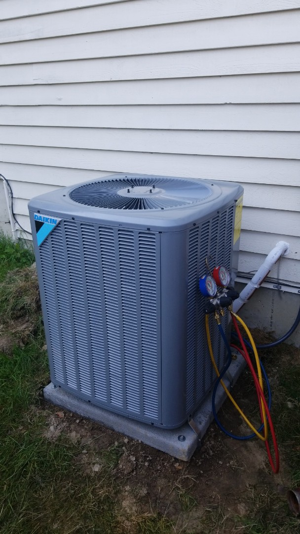 Bothell, WA - Installing an Air Conditioner  at a residence in Bothell Wa.