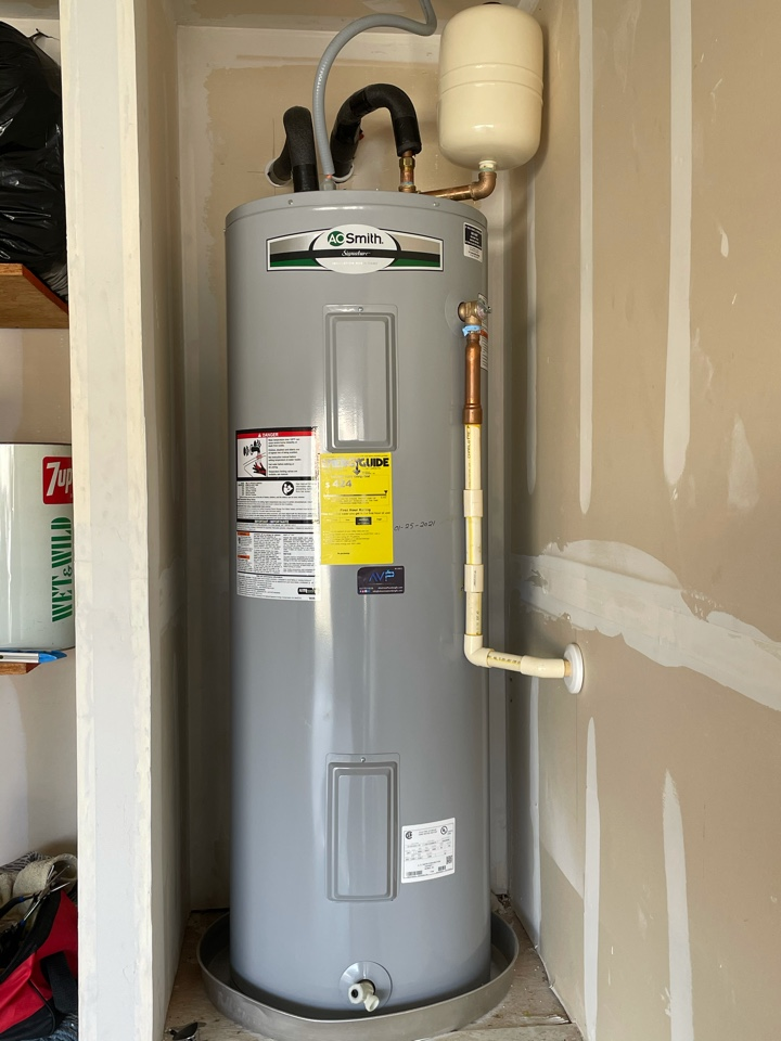 Temple, TX - Replace water electric 40 gallon water heater