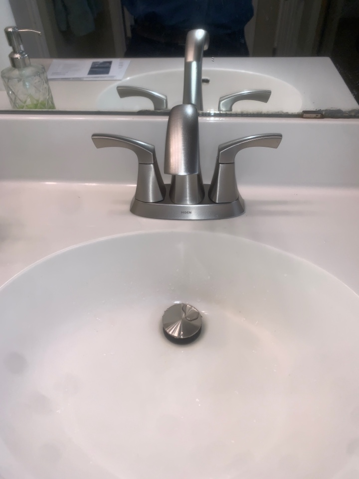 Cedar Park, TX - Switched out 2 bathroom sink faucets and drains for customer
