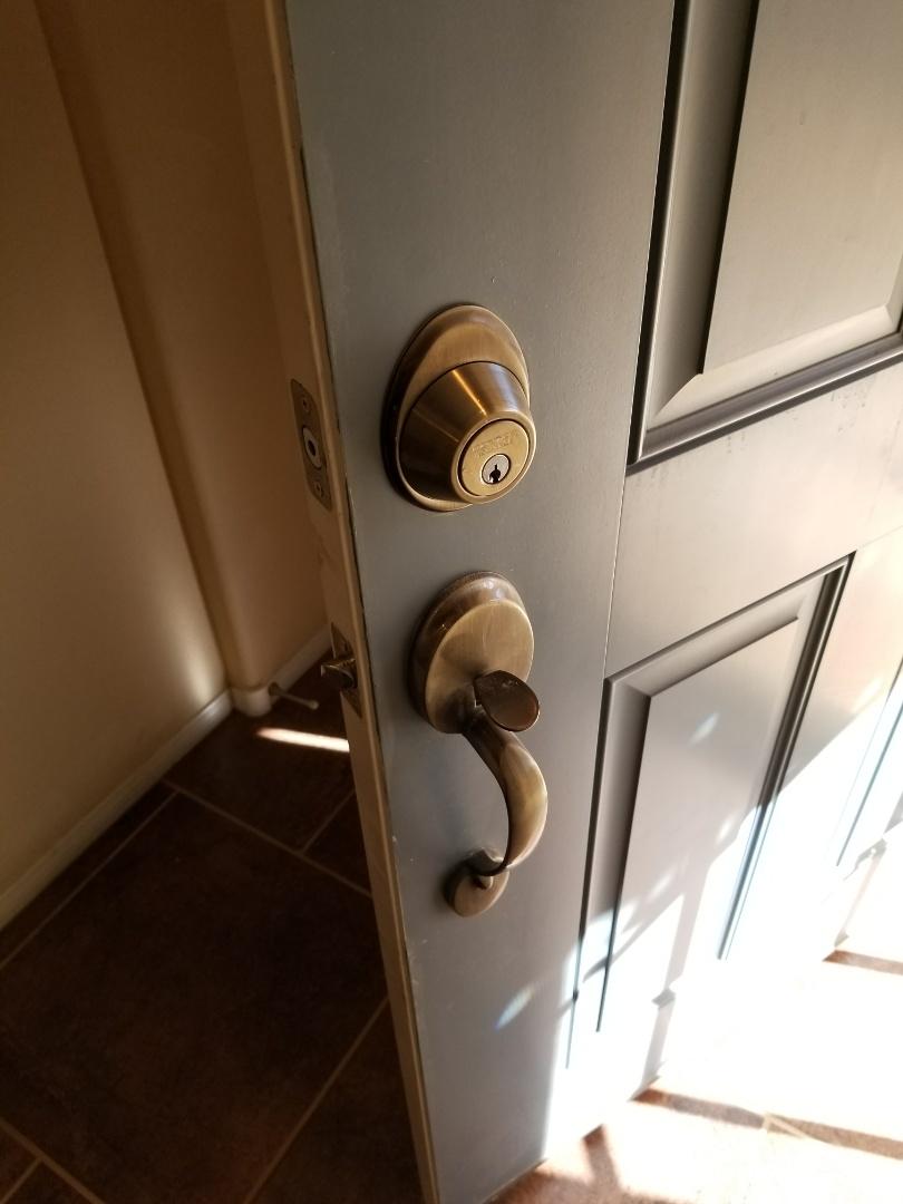 Finishing inspection of current locks, and home locks rekey. North Las Vegas locksmith service.