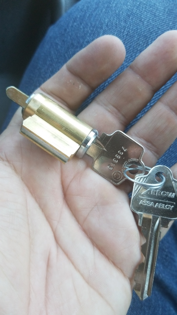 Finished commercial bathroom door lock fix and rekey; for stuck bathroom lever lock. Las Vegas locksmith service!