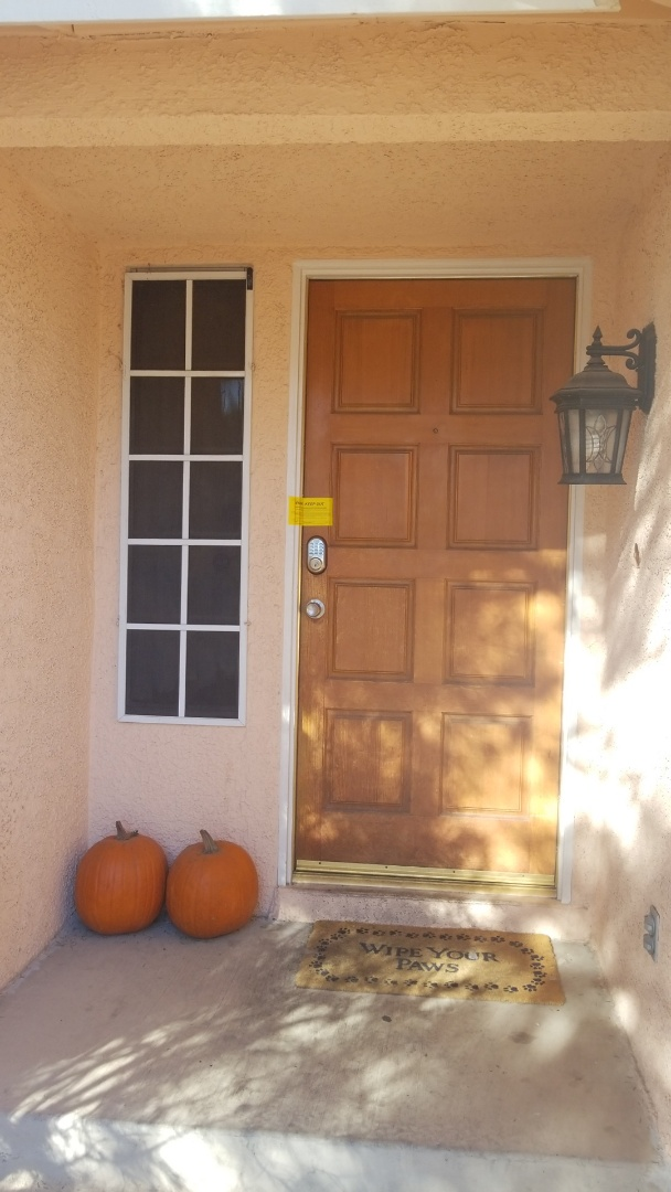 Completed Constable's office eviction lockout service; all doors and windows secured! Las Vegas Locksmith service!