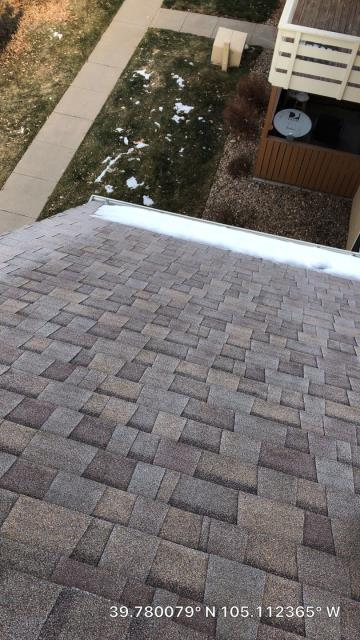 Wheat Ridge, CO - Completing a roof inspection in Wheat Ridge today.