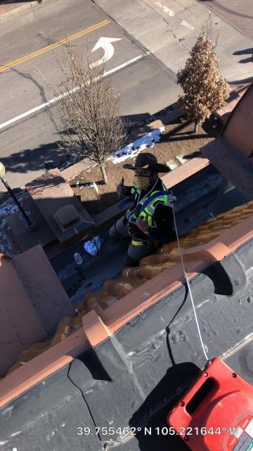 Golden, CO - I had a lot of fun performing this roof repair on a roof in Golden!