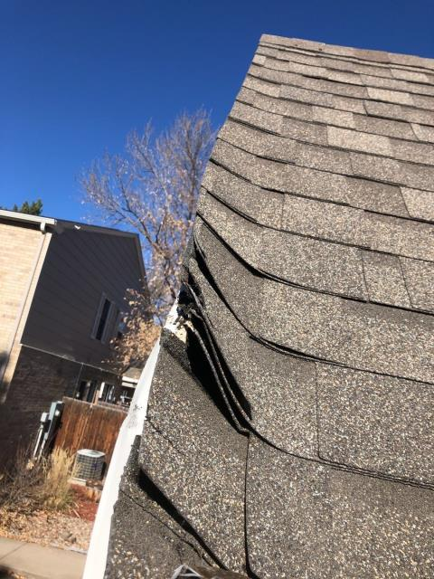 Broomfield, CO - Crazy repair on this house in Broomfield. Happy to help out an HOA!