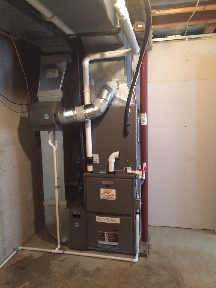 Brighton, MI - Installed Lennox ML195 furnace, XC13 AC unit, State 50 Gallon power vent water heater in Brighton, MI