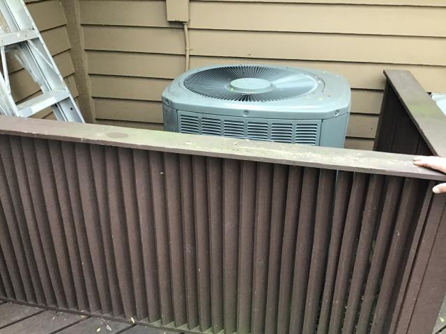 Washington Township, OH - Provided an estimate on the installation of Carrier electric furnace and heat pump. Pictured below is the current heat pump.